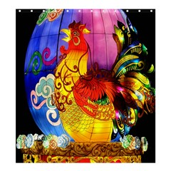 Chinese Zodiac Signs Shower Curtain 66  X 72  (large)  by Onesevenart