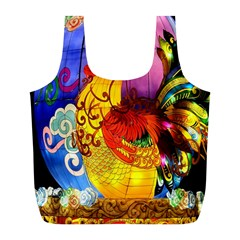 Chinese Zodiac Signs Full Print Recycle Bags (l)  by Onesevenart
