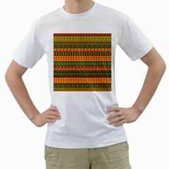 Mexican Pattern Men s T Shirt (white) (two Sided) by Onesevenart