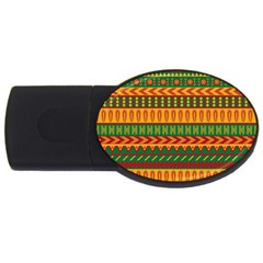 Mexican Pattern Usb Flash Drive Oval (4 Gb) by Onesevenart