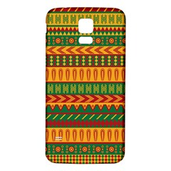 Mexican Pattern Samsung Galaxy S5 Back Case (white) by Onesevenart