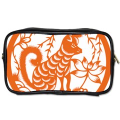 Chinese Zodiac Dog Toiletries Bags 2 Side by Onesevenart
