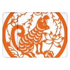 Chinese Zodiac Dog Samsung Galaxy Tab 8 9  P7300 Flip Case by Onesevenart