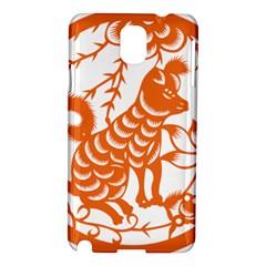 Chinese Zodiac Dog Samsung Galaxy Note 3 N9005 Hardshell Case by Onesevenart