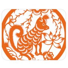 Chinese Zodiac Dog Double Sided Flano Blanket (medium)  by Onesevenart