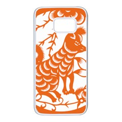 Chinese Zodiac Dog Samsung Galaxy S7 White Seamless Case by Onesevenart