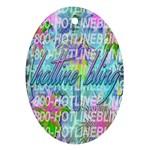 Drake 1 800 Hotline Bling Ornament (Oval)