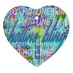 Drake 1 800 Hotline Bling Heart Ornament (Two Sides)