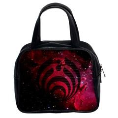 Bassnectar Galaxy Nebula Classic Handbags (2 Sides) by Onesevenart