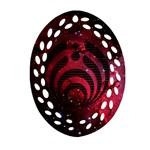 Bassnectar Galaxy Nebula Oval Filigree Ornament (Two Sides)