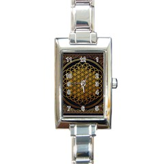 Bring Me The Horizon Cover Album Gold Rectangle Italian Charm Watch by Onesevenart
