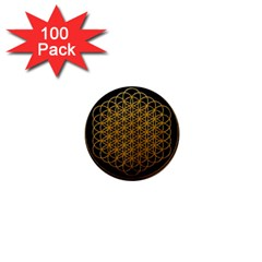 Bring Me The Horizon Cover Album Gold 1  Mini Buttons (100 Pack)  by Onesevenart
