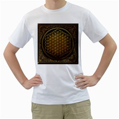 Bring Me The Horizon Cover Album Gold Men s T Shirt (white) (two Sided) by Onesevenart