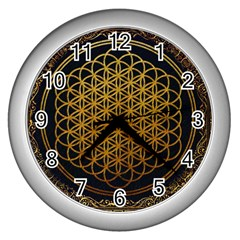 Bring Me The Horizon Cover Album Gold Wall Clocks (silver)  by Onesevenart