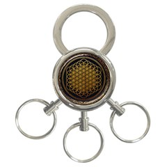 Bring Me The Horizon Cover Album Gold 3 Ring Key Chains by Onesevenart