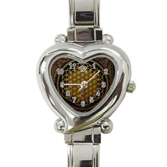 Bring Me The Horizon Cover Album Gold Heart Italian Charm Watch by Onesevenart
