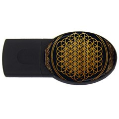 Bring Me The Horizon Cover Album Gold Usb Flash Drive Oval (4 Gb) by Onesevenart