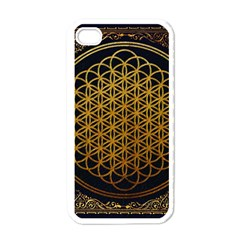 Bring Me The Horizon Cover Album Gold Apple Iphone 4 Case (white) by Onesevenart