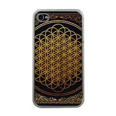 Bring Me The Horizon Cover Album Gold Apple Iphone 4 Case (clear) by Onesevenart