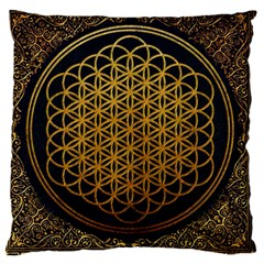 Bring Me The Horizon Cover Album Gold Large Cushion Case (two Sides) by Onesevenart