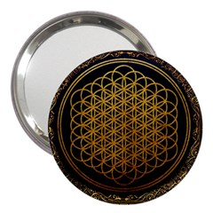 Bring Me The Horizon Cover Album Gold 3  Handbag Mirrors by Onesevenart