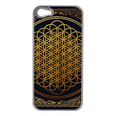 Bring Me The Horizon Cover Album Gold Apple Iphone 5 Case (silver) by Onesevenart