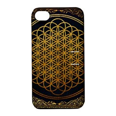 Bring Me The Horizon Cover Album Gold Apple Iphone 4/4s Hardshell Case With Stand by Onesevenart