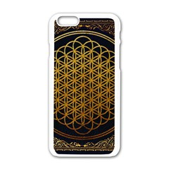 Bring Me The Horizon Cover Album Gold Apple Iphone 6/6s White Enamel Case by Onesevenart