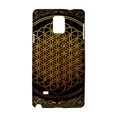 Bring Me The Horizon Cover Album Gold Samsung Galaxy Note 4 Hardshell Case by Onesevenart