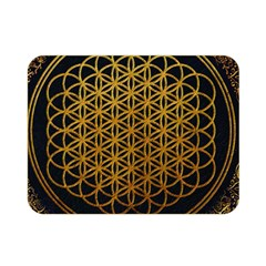 Bring Me The Horizon Cover Album Gold Double Sided Flano Blanket (mini)  by Onesevenart