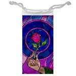 Enchanted Rose Stained Glass Jewelry Bag