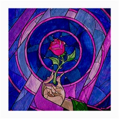 Enchanted Rose Stained Glass Medium Glasses Cloth (2 Side) by Onesevenart