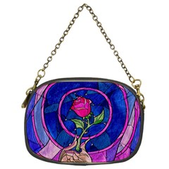 Enchanted Rose Stained Glass Chain Purses (two Sides)  by Onesevenart