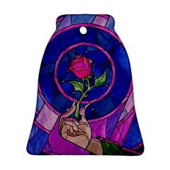 Enchanted Rose Stained Glass Bell Ornament (two Sides) by Onesevenart