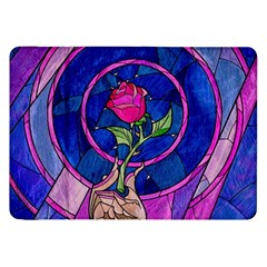 Enchanted Rose Stained Glass Samsung Galaxy Tab 8 9  P7300 Flip Case by Onesevenart