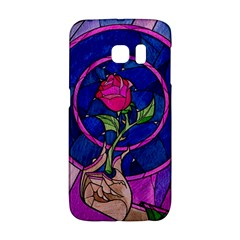 Enchanted Rose Stained Glass Galaxy S6 Edge by Onesevenart