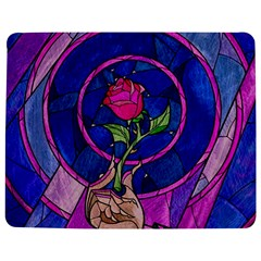 Enchanted Rose Stained Glass Jigsaw Puzzle Photo Stand (rectangular) by Onesevenart