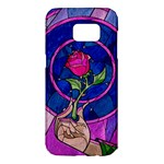 Enchanted Rose Stained Glass Samsung Galaxy S7 Edge Hardshell Case