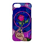 Enchanted Rose Stained Glass Apple iPhone 7 Hardshell Case