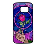 Enchanted Rose Stained Glass Samsung Galaxy S7 Black Seamless Case