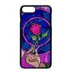 Enchanted Rose Stained Glass Apple iPhone 7 Plus Seamless Case (Black)