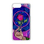 Enchanted Rose Stained Glass Apple iPhone 7 Plus White Seamless Case
