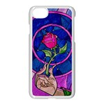 Enchanted Rose Stained Glass Apple iPhone 7 Seamless Case (White)