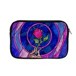 Enchanted Rose Stained Glass Apple MacBook Pro 13  Zipper Case