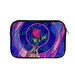 Enchanted Rose Stained Glass Apple MacBook Pro 15  Zipper Case