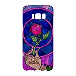 Enchanted Rose Stained Glass Samsung Galaxy S8 Hardshell Case