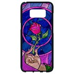 Enchanted Rose Stained Glass Samsung Galaxy S8 Black Seamless Case