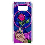 Enchanted Rose Stained Glass Samsung Galaxy S8 White Seamless Case