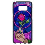 Enchanted Rose Stained Glass Samsung Galaxy S8 Plus Black Seamless Case