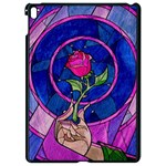 Enchanted Rose Stained Glass Apple iPad Pro 9.7   Black Seamless Case